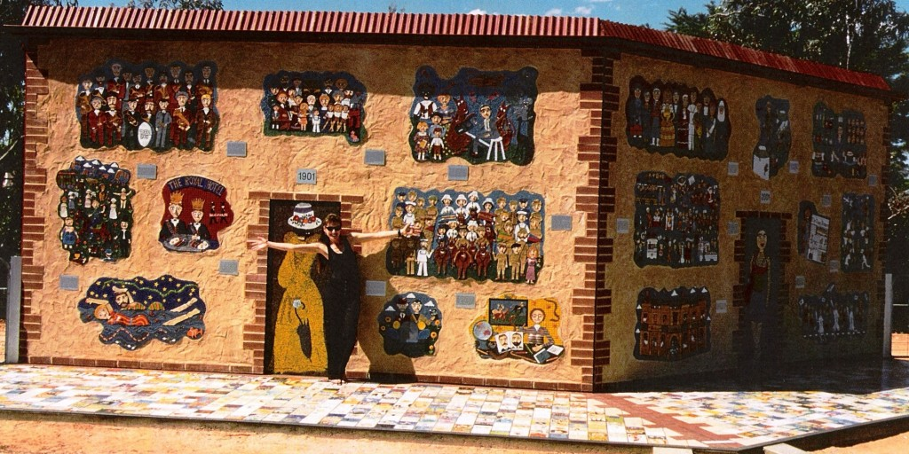 public art in the South Australian countryside,mosaic and ceramic