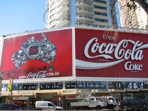 The coke sign at Kings Cross on the art blog of artist Marie Jonsson-Harrison