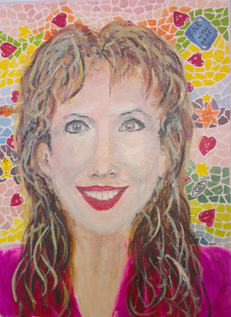 a portrait of marie jonsson harrison by outsider artist stefan maguran