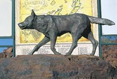 bronze statue of red dog on art blog about Red dog the movie